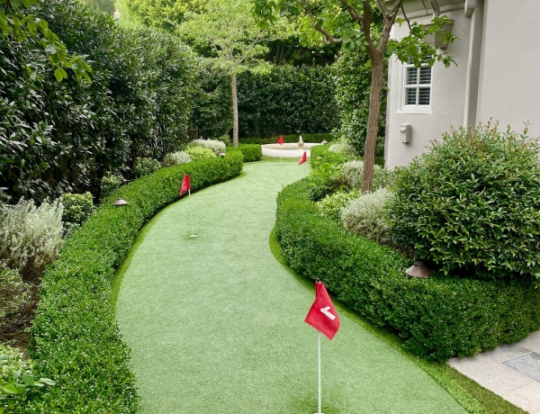 Your own private putting green at my new listing in the guard gated community of Bel Air Crest.