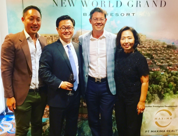 At the launch event for New World Grand condo's & villas in Bali.